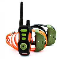 Pet Dog Training Collar Waterproof Rechargeable Dog Electric Shock Vibration Training Collar Remote Controller 800M