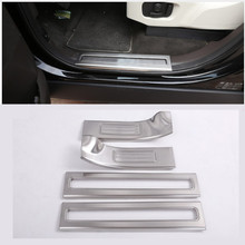 цена на Stainless Steel Inside Door Sill Scuff Threshold Protector Plate For Land Rover Discovery 5 2017 Car Accessories Styling 4pcs