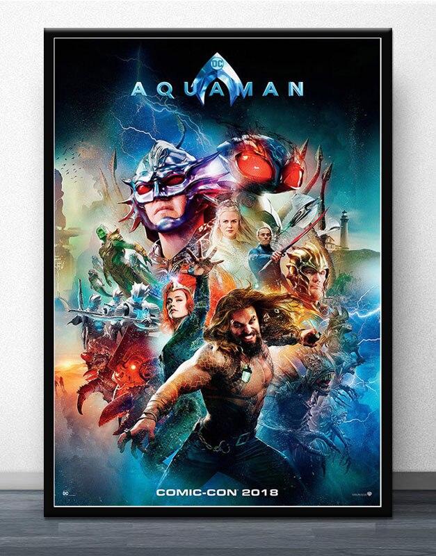 Aquaman 2018 DC Movie Superhero Art Jason Momoa Hot Silk Poster 12x18 24x36 004