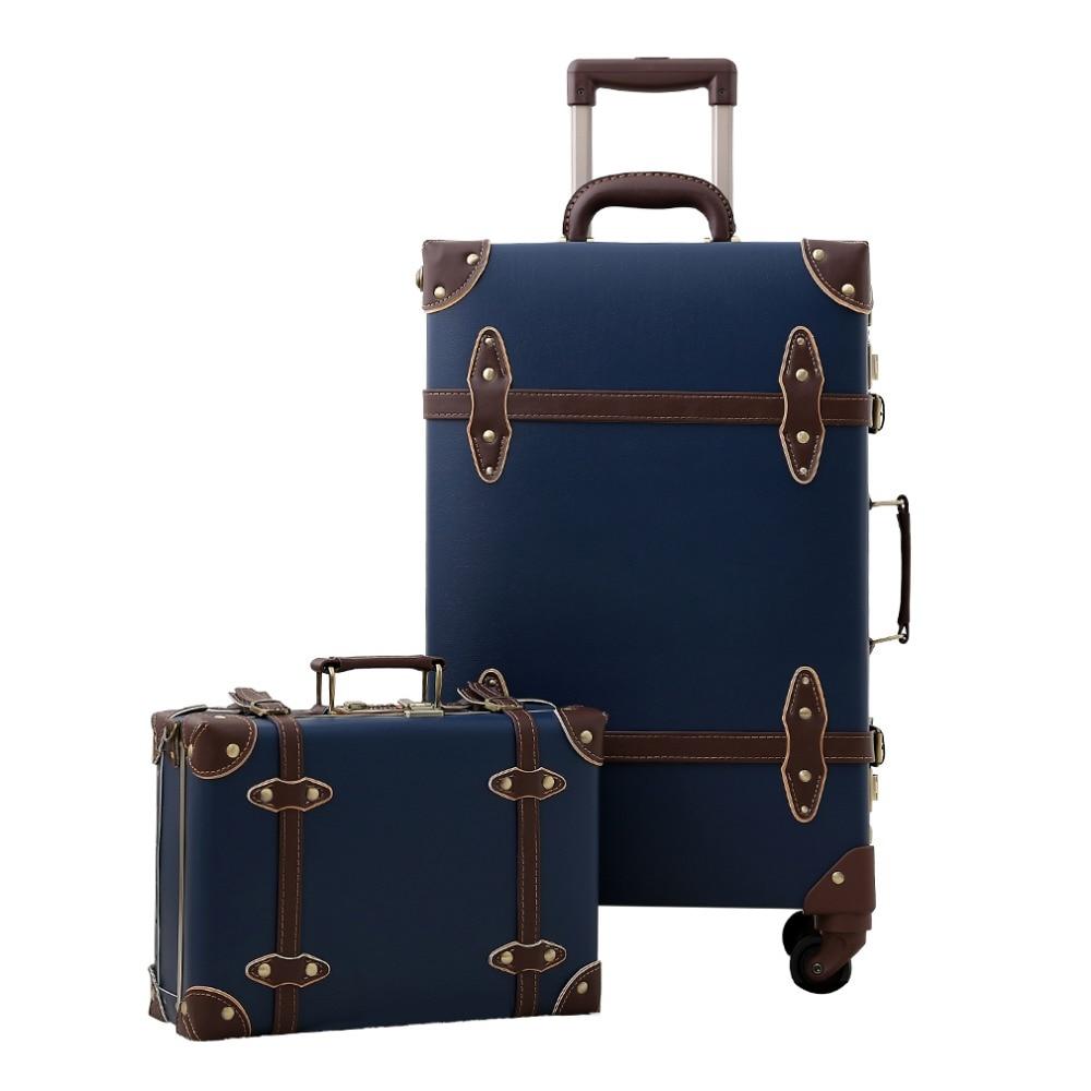 2019 Carregam Na Bagagem Hardside Girador Rolando Mala de Viagem Do Vintage Estilo Retro para mala de Viagem frete grátis