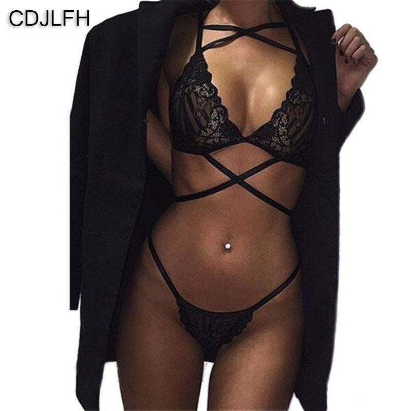 2pc Sexy Lace Lingerie Porno Komplet Bielizny Push Up Bra Set Mujer Ropa Interior Dessous Lenceria Mujer Underwear Women Set
