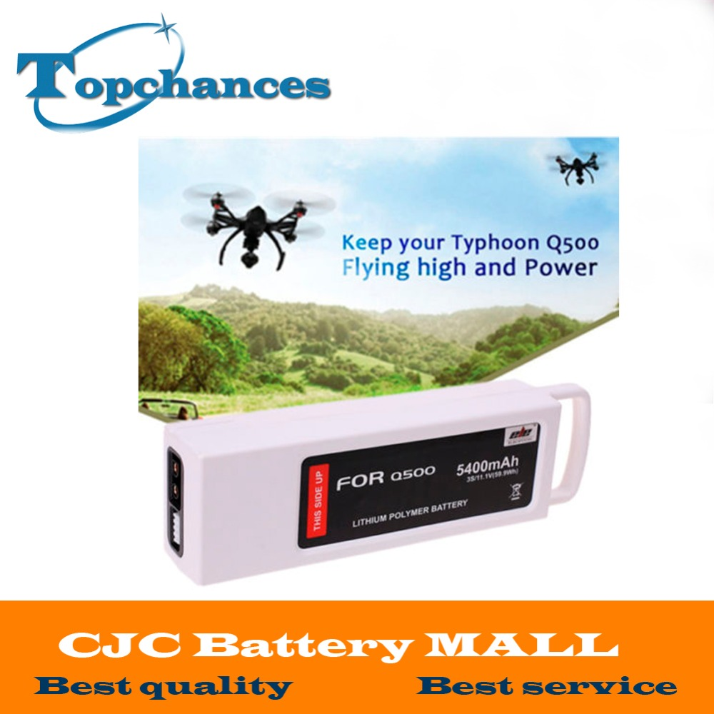 High Quality New 5400mAh 11.1 Volt Lipo Battery For Yuneec Q500 Series RC Drone 11.1V 3S / 3-Cell