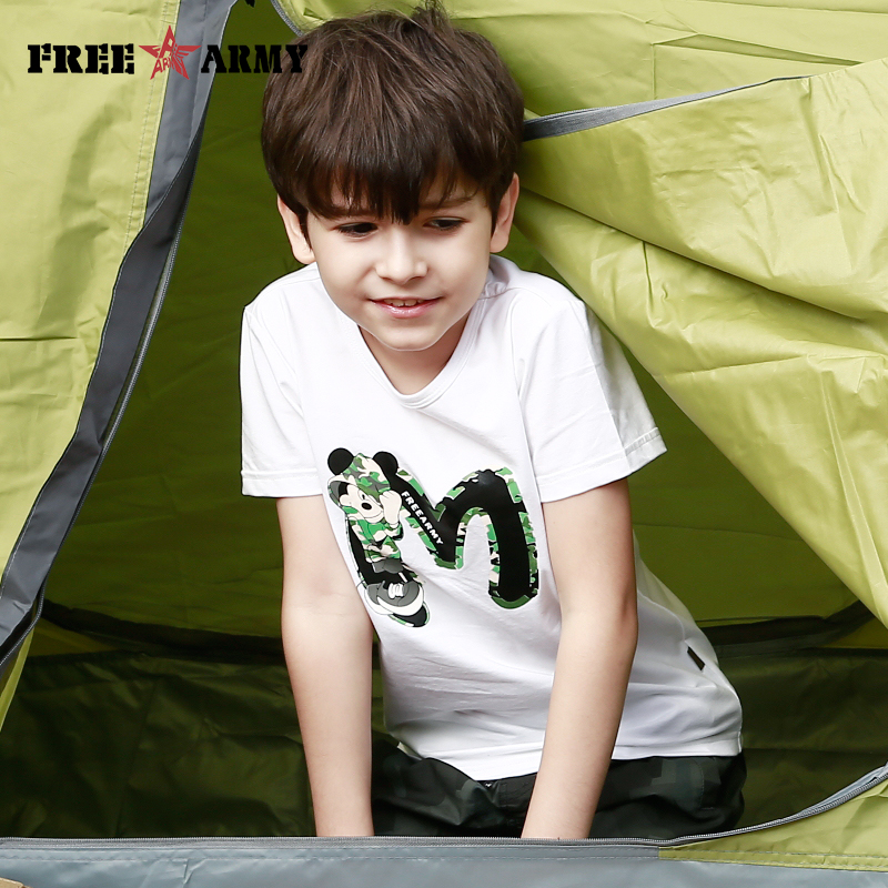 Summer Kids T Shirts Short Sleeve Children Cute Cartoon Funny Shirt Boys Girls Tops Casual Clothes