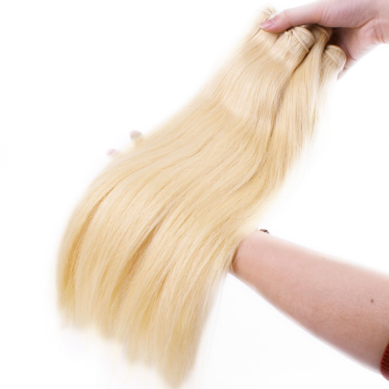Ali Queen 613 Blonde Bundle Unprocessed Virgin Straight 10A Brazilian One Donor Human Young Girl Hair Weave Extension For Salon-in Virgin Hair Weave from Hair Extensions & Wigs    2