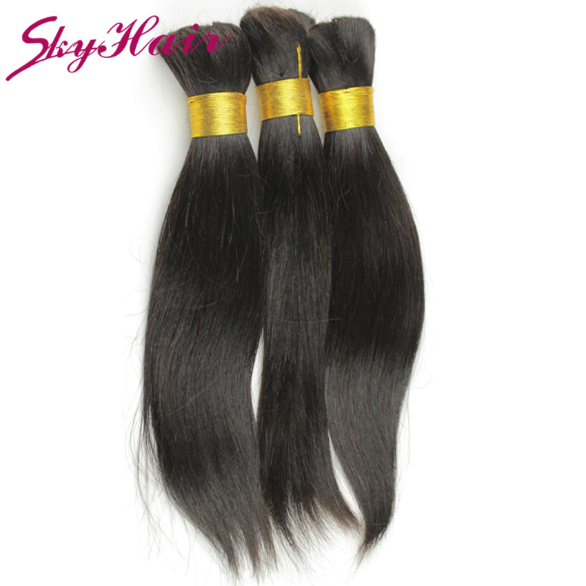 indian virgin hair straight human braiding hair bulk 1pcs lot indian straight human hair for braiding bulk no attachment 100g/pc
