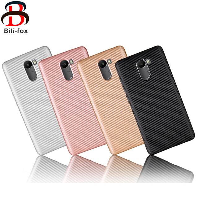 newest 10eec 65fa5 US $3.74 |BF Carbon Fiber Phone Cover For Xiaomi Redmi 4 Prime Case Coque 5  Inch Waterproof Brushed Soft TPU Case for Redmi 4 Prime Covers-in Fitted ...