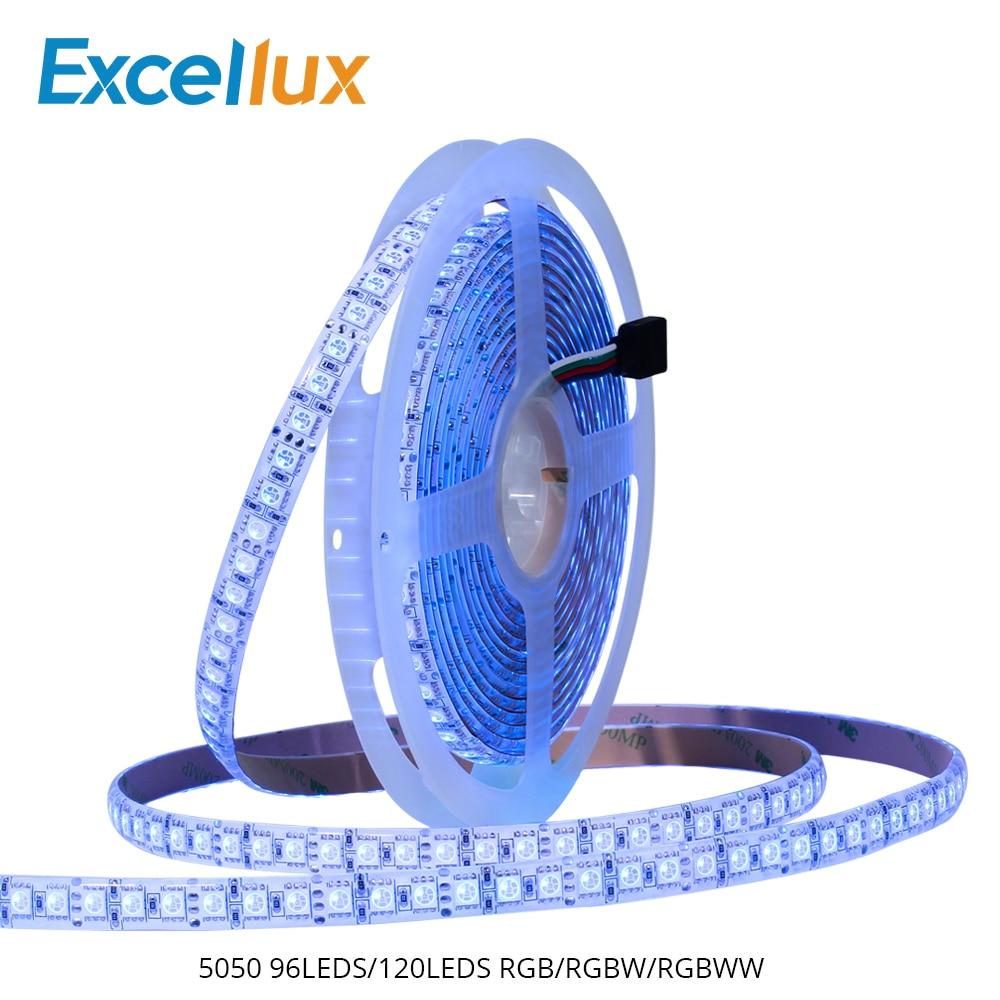 DC12V 5M 120LEDS/M,96LEDs/M LED Strip Light 5050 Super Bright Flexible Strip RGB/RGBW/RGBWW For Decoration Light IP65 Waterproof