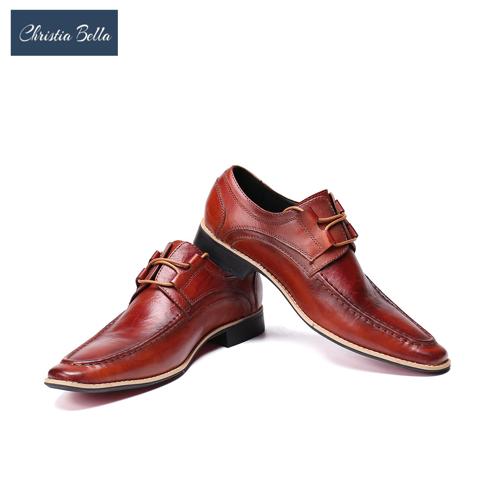 Christia Bella Fashion Brand Design Men Celebrate Oxford Shoes Genuine Leather Lace Up Wedding Party Office Dress Shoes SummerChristia Bella Fashion Brand Design Men Celebrate Oxford Shoes Genuine Leather Lace Up Wedding Party Office Dress Shoes Summer