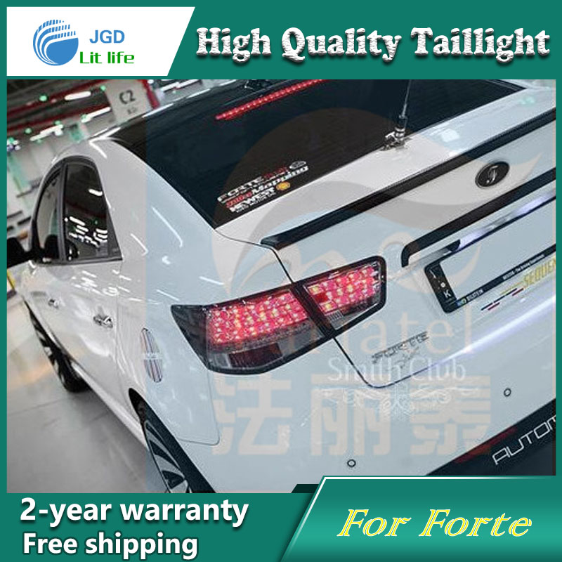 Car Styling Tail Lamp for Kia Forte Tail Lights LED Tail Light Rear Lamp LED DRL+Brake+Park+Signal Stop Lamp car styling tail lamp for toyota corolla led tail light 2014 2016 new altis led rear lamp led drl brake park signal stop lamp