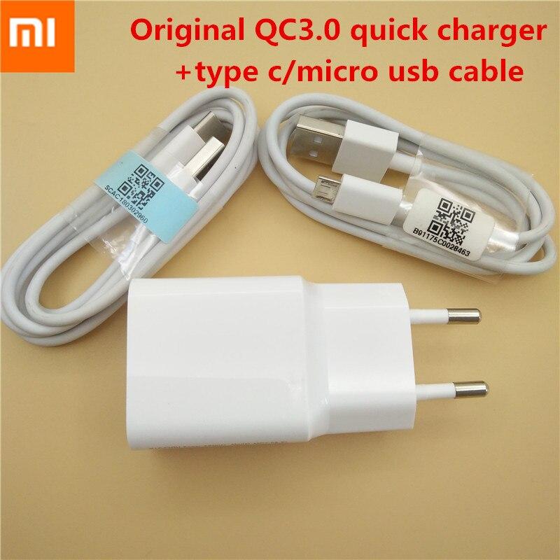 Original XIAO mi USB schnelle Ladegerät Adapter 12 v/1.5A, mi cro USB/TYP C Daten Kabel Für mi 4 5 5 s 6 Max 2 mi x A1 red mi Hinweis 4 4A 4X