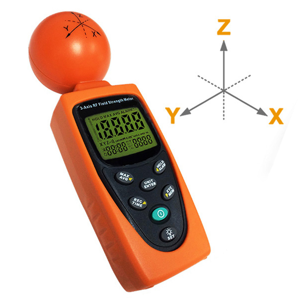 3-Axis RF Field Strength Meter 50MHz~3.5GHz Frequency Range Equip. For Environ