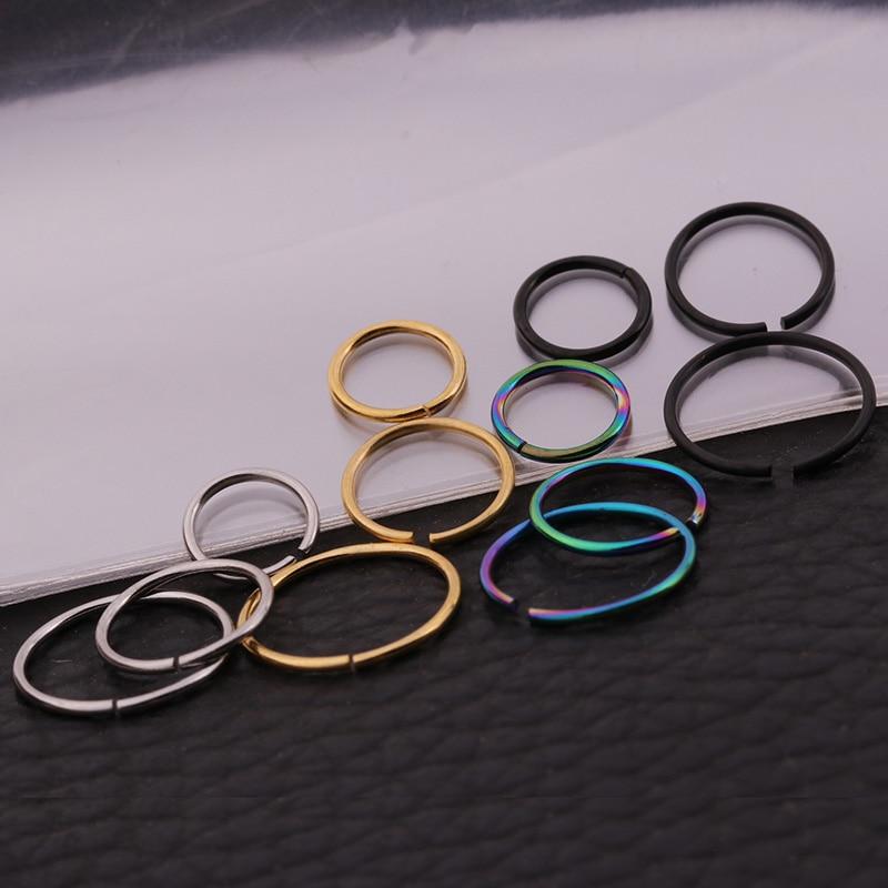 Conjuntos de venta 4pcs Snug Rook Daith Tragus Lobe Helix Piercing - Bisutería - foto 2