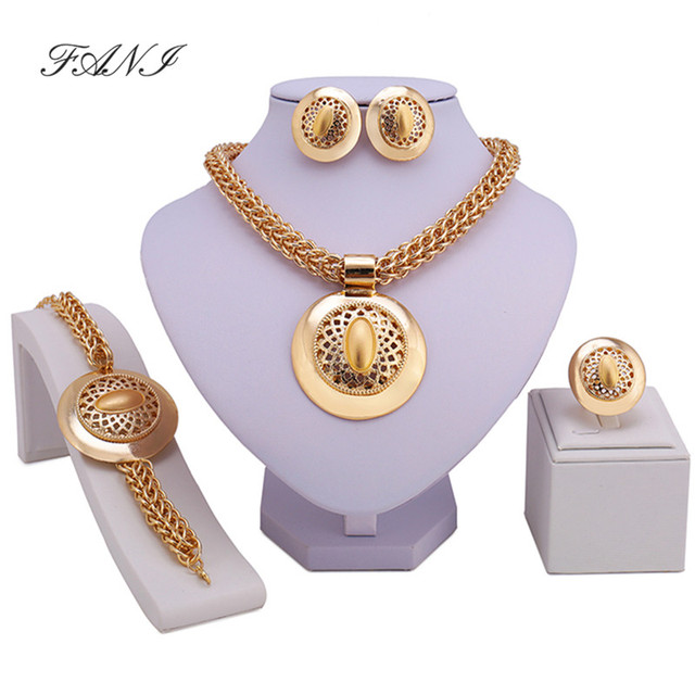 Fani Dubai Gold Color Jewelry Sets Brand Costume Design Nigerian