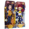 Big Size Toy Story 3 Falando Woody de Toy Story Jessie 45 cm PVC Action Figure Collectible Modelo Toy Boneca