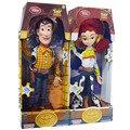 Tamaño grande Toy Story 3 Woody de Toy Story Jessie Talking 45 cm PVC Figura de Acción de Colección Modelo de Juguete Muñeca