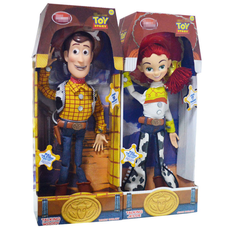 Wonderful Toy Story 3 45cm Talking Woody Jessie PVC Action Figure Collectible Model Toy Doll