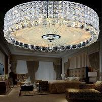 Led Golden Crystal Light Circular Stateroom Restaurant Bedroom Absorb Dome Light 40 Cm 60 Cm 80