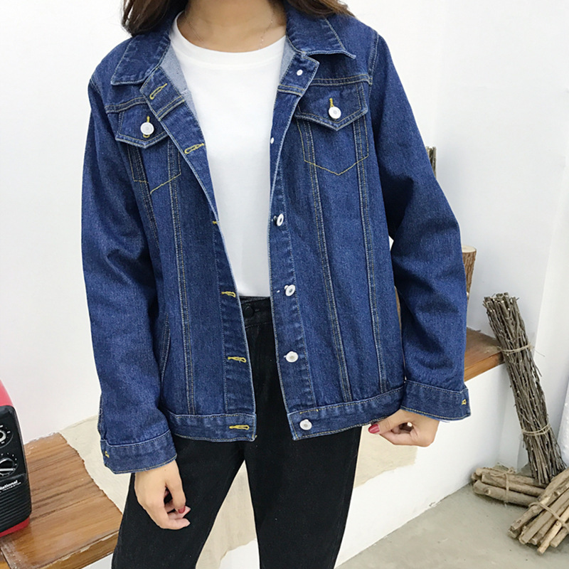 2019 Denim Coat Autumn Jeans   Jacket   Female Women Chaqueta Mujer Streetwear Boyfriend   Basic     Jackets   For Harajuku Clothes College