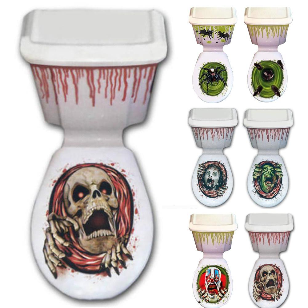Removable halloween 3d toilet stickers home decor quote - Stickers deco wc ...