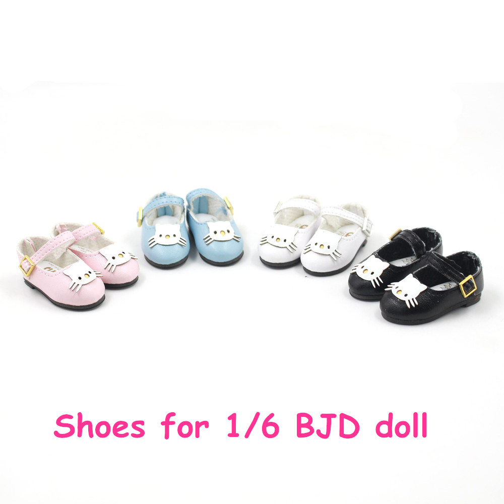 Shoes for 1/6 BJD doll 44mm kitty pattern four differents styles Cute Not for Blyth doll