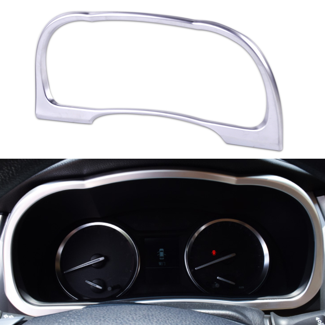 CITALL Car-styling ABS Matte Chrome Dashboard Frame Instrument Panel Cover Trim For Toyota Highlander Kluger 2014 2015 2016 2017 citall 4pcs car interior abs matte chrome door window switch console panel cover trim for toyota highlander 2014 2015 2016 2017