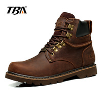 TBA Men S Outdoor Walking Shoes Mens Fashion Martin Boots Genuine Leather Shoes Winter Tooling Men
