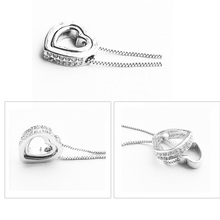 Best Cheap Sterling Silver Double Heart Necklace