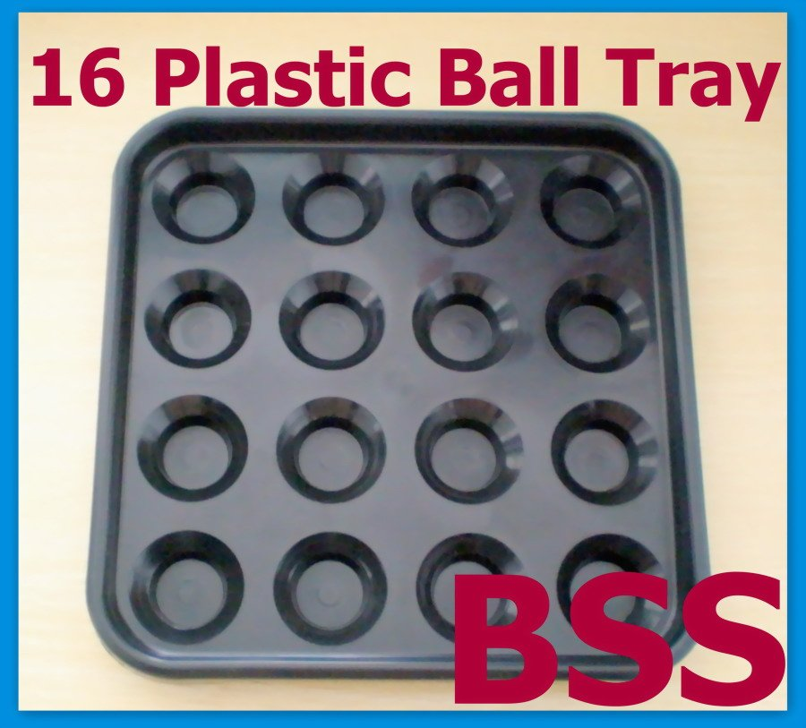 Free Shipping 1pcs/lot Plastic Pool 16 Ball Tray Billiards Snooker Table Storage Tray NEW