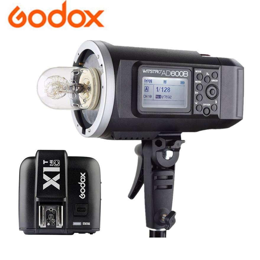 Godox AD600B TTL Bowens 2.4 г x Системы 8700 мАч Li-Батарея открытый вспышка + X1T-C/N /S/F/O передатчик для Canon Nikon Sony ...
