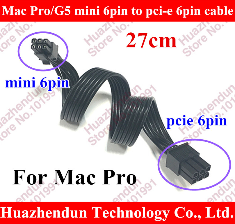 Mac Pro/G5 mini 6pin to pci-e 6pin video card power cable 6 pin to 6 pin 8800GT /GTS quadro4000 FX4500 8800gt GTX 570 original high quality nvidia quadro fx370 pci e with dms 59 cable fx 370 3d griaphic card 1year warranty