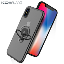 Magnetic Ring Phone Case For iPhone X XS XR Max Cover Bracket 360 Rotation Car for