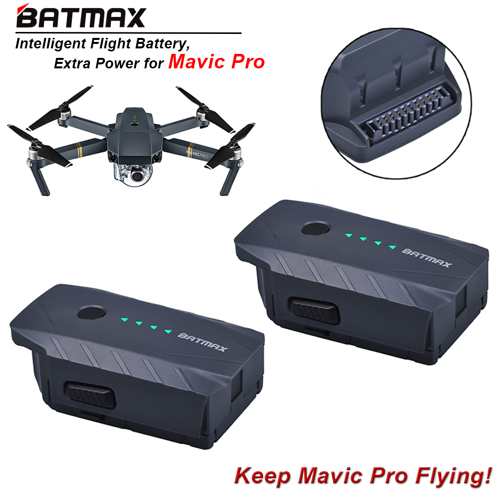 2Pcs 3830mAh Mavic Pro Intelligent Flight Replacement Battery For DJI Mavic Pro/ Fly More Combo Quadcopter 4K HD Camera Drones квадрокоптер набор dji mavic pro 4k quadcopter бпла красный