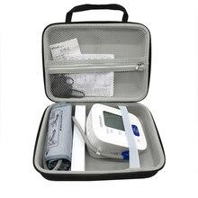 Caja de almacenamiento de viaje para Monitor de presión arterial de brazo caja de bolsas de nailon EVA duro inalámbrico para Omron serie 7124 71