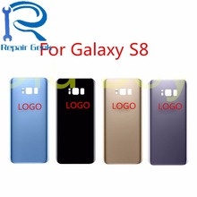 OEM Brand New Back Glass Cover for Samsung Galaxy S8 G950 Rear Battery Cover Door Housing Blue Black Gold Silver