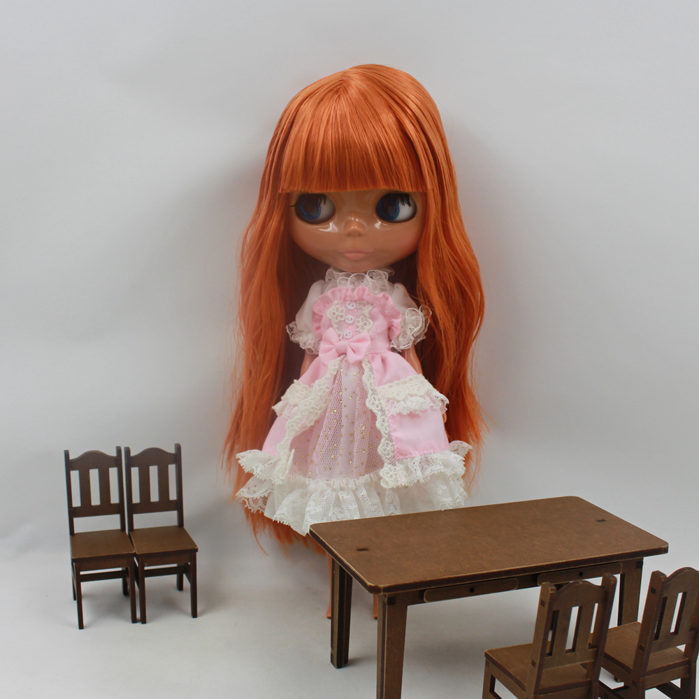 Free shipping Nude Doll For Series No.240BL0145 Bown hair With Bangs Suitable For DIY Change Toy For Girls все цены