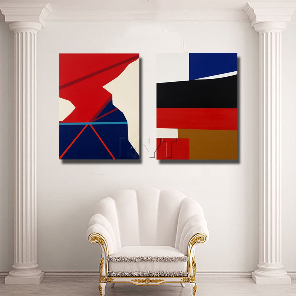Us 9 7 32 Off Geometrical Shape Oil Painting Hand Painted Abstract Oil Paintings On Canvas For Living Room Wall Decor Free Shipping In Painting
