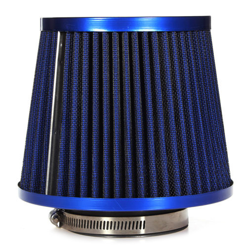 New Universal Car Air Filter Vehicle Induction Kit High Power Mesh Blue Finish Sport 2017 hot universal racing cold feed induction kit