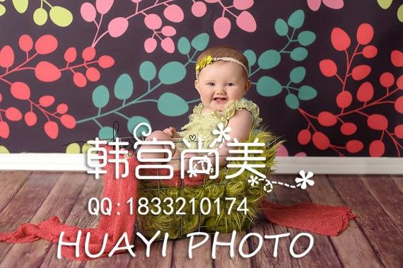 HUAYI 5X7FT 미술 직물 사진 배경 신생아 어린이 세로 무늬 사진 배경 D-7051