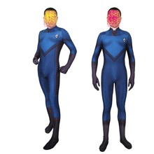 Kids Adult Bodysuit Fantastic Four Cosplay Siamese Tights Clothing Zentai Halloween Movie Fantastic Four Anime NewVersion BOOCRE цена 2017