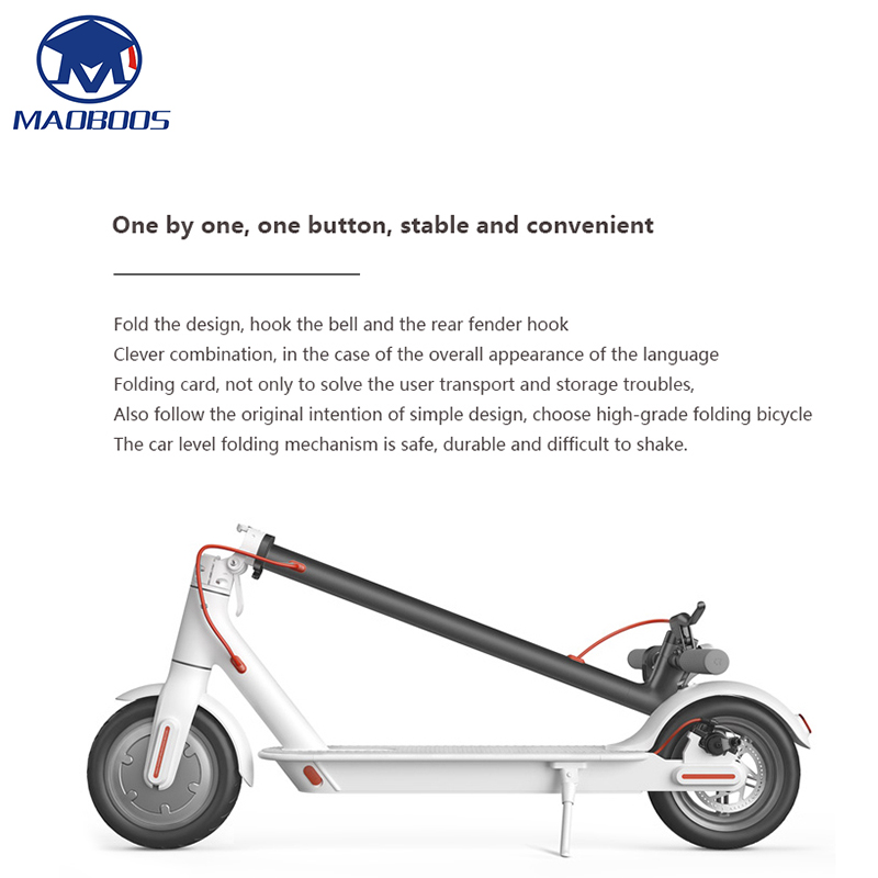 2 Wheel Lightweight Electric Scooter with Long and foldable board 3