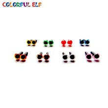 50 pares 4.5mm colorido animal olhos mix-color