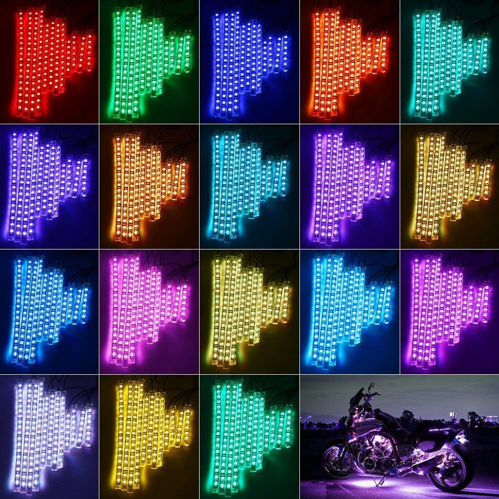 Huge motorcycle led accent strip lighting obama with white