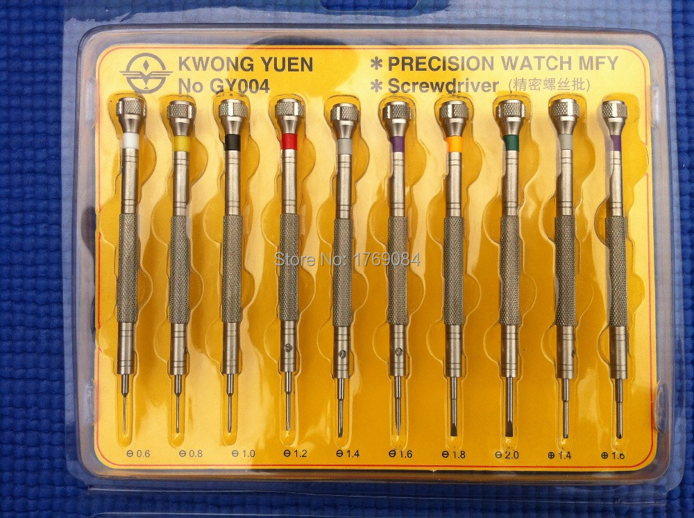 10 IN 1 Precision Screwdriver Set Watch Repair Tools Kit for Watchmakers 316 Stainless Steel Supper