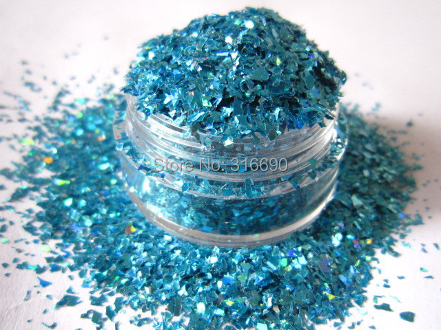 Holo BLUE Flake Solvent Resistant Glitter For Nail Art