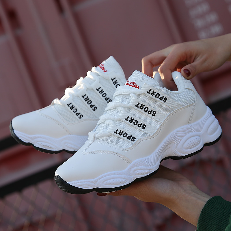 Fitness Cross Training Shoes Super Fire Chic Sport Shoes For Women Flat Net White Sneakers Shoes Tourism Casua Women Shoes korean running rubber shoes for women #ag76
