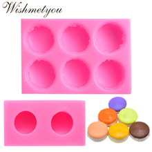 WISHMETYOU 3D Stereo Macaron Style Silicone Soap Mold For DIY Candle Moulds Fondant Cake Decorating Tools Handmade Chocolate New