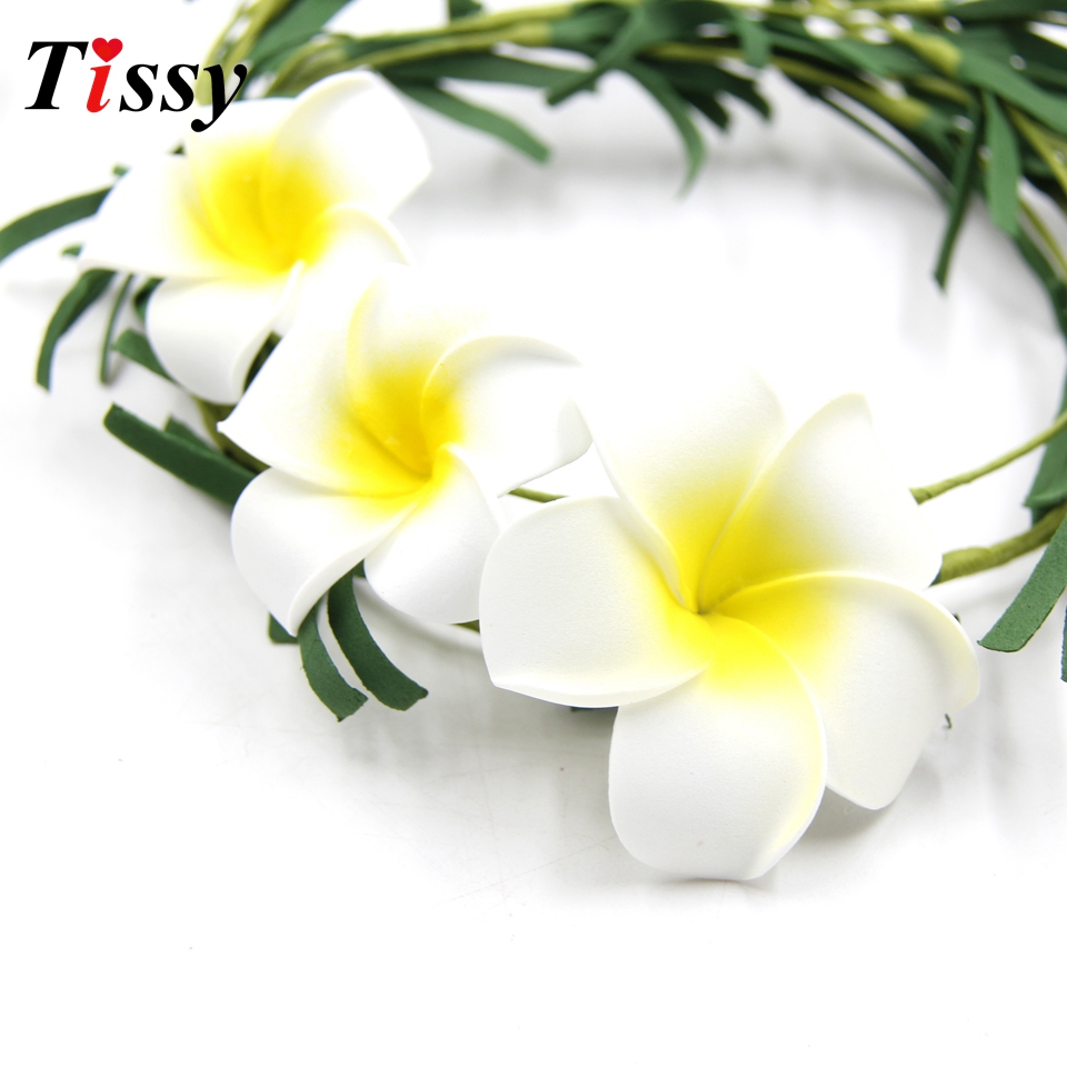 100pcs white plumeria hawaiian artificial flowers foam flowers fake 100pcs white plumeria hawaiian artificial flowers foam flowers fake egg flowers wedding decoration party supplies diy wreath in artificial dried flowers izmirmasajfo