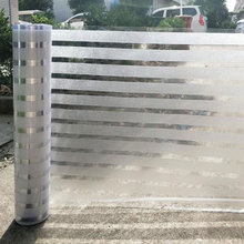 70/80/90cm*200cm Wide Stripe Privacy Window Foil Film Glue free Decorative Static Glass Sticker Office Move Door Home Decor