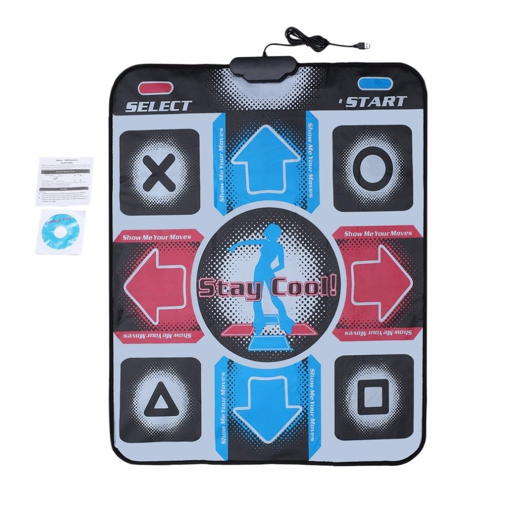 HD Non Slip Dancing Step Dance Mat Pad Pads Dancer Blanket Fitness Equipment Revolution Foot Print