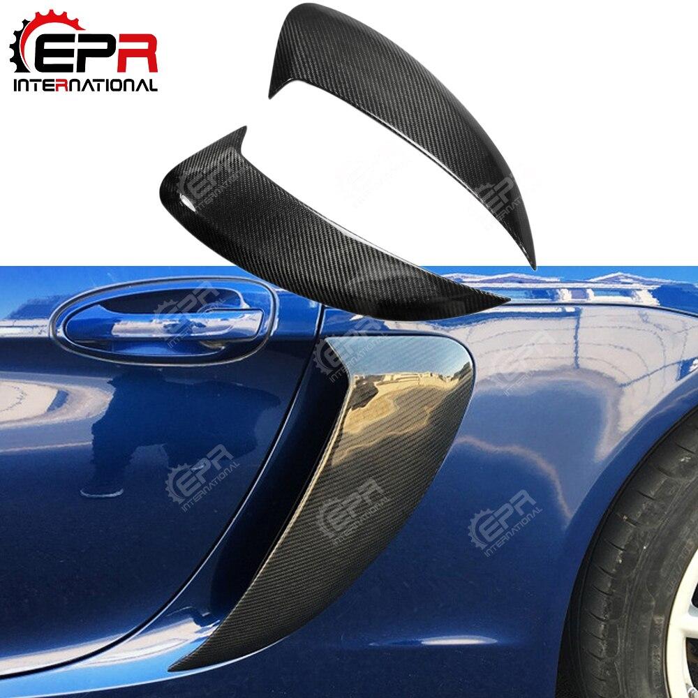 Для Porsche 981 Кайман углерода волокно сбоку холодного воздуха воздуховода вентиляционное отверстие для Porsche 981 тюнинг отделка внешней отделко